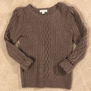 Something Navy cable knit sweater